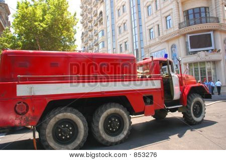 poster of Firetruck In The City Rushing To The Fire