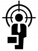 picture of crosshair  - Man under crosshair - JPG