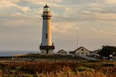 picture of lighthouse  - Lighthouse on the california coast - JPG