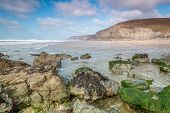 foto of inlet  - beautiful coastline in cornwall - JPG