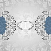 picture of perfume  - Vintage background with seamless pattern in silver blue colors for invitation or congratulation or for package perfumer - JPG