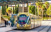 foto of tram  - MONTPELLIER FRANCE  - JPG