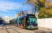 picture of tram  - MONTPELLIER FRANCE  - JPG