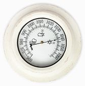 image of barometer  - Close view of barometer in a white background - JPG
