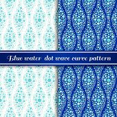 stock photo of dot pattern  - pattern background blue water tone is circle dot wave curve art design - JPG