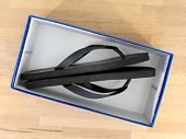 stock photo of shoe-box  - A close up shot of a shoe box - JPG
