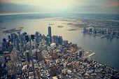 foto of freedom tower  - New York City Manhattan downtown aerial view - JPG