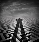 pic of counseling  - Management consulting and new consultant solution concept as a shadow of a person or advisor on a complicated maze or labyrinth as a metaphor and symbol for providing counsel - JPG