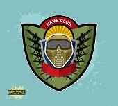 stock photo of paintball  - paintball emblem club - JPG
