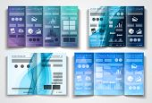 stock photo of brochure  - Vector tri fold brochure template design or flyer layout to use for business applications - JPG