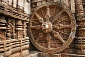 picture of chariot  - Konark Sun Temple also known as the Black Pagoda is a 13th - JPG