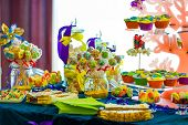 pic of candy  - Amazing candy bar at wedding with back light - JPG
