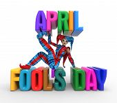 image of fool  - 3D rendering clipart celebrating april fool - JPG