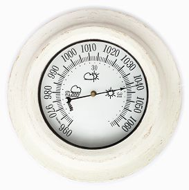 foto of barometer  - Close view of barometer in a white background - JPG
