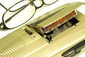 Microcassette Recorder & Glasses