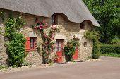 stock photo of hamlet  - France old hamlet of Kerhinet in Saint Lyphard - JPG
