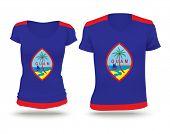foto of guam  - Flag shirt design of Guam  - JPG