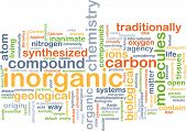 Background concept wordcloud illustration of inorganic poster
