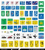 foto of traffic sign  - Set of road signs - JPG