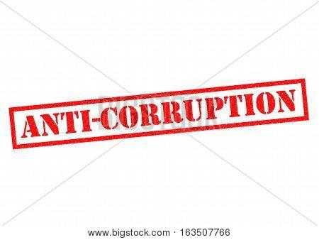 ANTICORRUPTION red Rubber