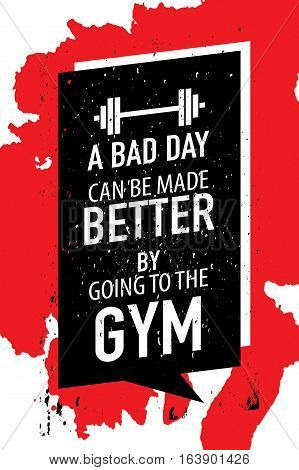 poster of Gym exercise fitness workout motivation concept motivational poster design