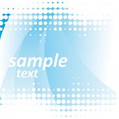 Vector Abstract blue background with dots elements