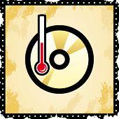 vector disc icon - temperature