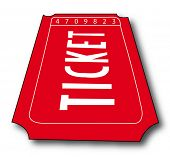 admission ticket isolated - room for copyspace - vector