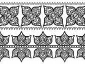 Henna border designs