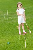 Little croquet player