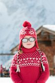 Little girl on winter vacation