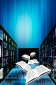 stock photo of online education  - illustration concept for online or digital library - JPG