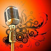 micrófono Vintage - vector