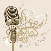micrófono vintage Vector