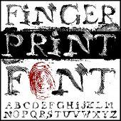 fingerprint font