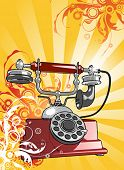 stock photo of hooters  - vintage telephone - JPG