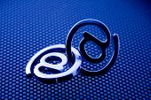 e-mail symbols & blue technology background See all metal letters in my portfolio