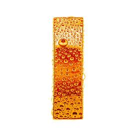 stock photo of alphabet letters  - Orange gold alphabet symbol  - JPG