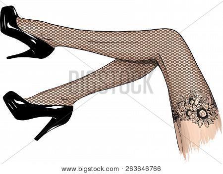 Vector Girls In High Heels
