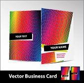 Vertical vector business card.