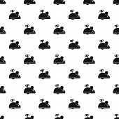 Clockwork Mouse Pattern Seamless In Simple Style Illustration poster