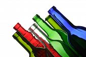 empty wine bottles for recycling