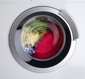 foto of dirty-laundry  - Modern Washing Machine - JPG