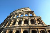 Famous Colosseum or Coliseum in Rome(Flavian Amphitheatre), Italy