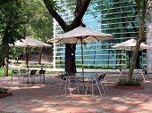 Quiet Outdoor Cafe poster