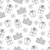 Pattern With Christmas Decorations For Your Design.hand Drawn Merry Christmas And Happy New Year Doo poster