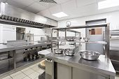 Modern Kitchen Equipment In A Restaurant. Close Up. Object. Macro Photography poster