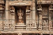 stock photo of trichy  - Bas reliefes in Hindu temple - JPG