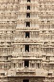 Tower (gopura) of Arunachaleswar Temple. Tiruvannamalai, Tamil Nadu, India