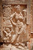 Ancient bas relief at Jetavaranama dagoba  (stupa). Anuradhapura, Sri Lanka